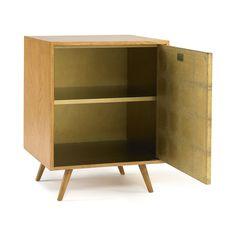 ON SALE  Franklin Gold Leaf Side Cabinet