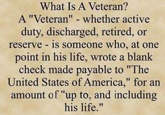 Thank a Veteran every chance you get! http://www.hotdogsandguns.com/2013/11/what-is-veteran.html