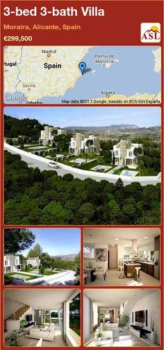 3-bed 3-bath Villa in Moraira, Alicante, Spain ►€299,500 #PropertyForSaleInSpain