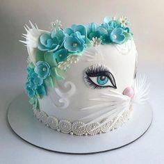 Cute Cakes, Yummy Cakes, Beautiful Cakes, Amazing Cakes, Fresh Cake, Pear Cake, Pretty Birthday Cakes, Bowl Cake, Animal Cakes