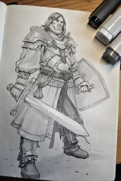ArtStation - Daily Traditional sketches, Michal Kus