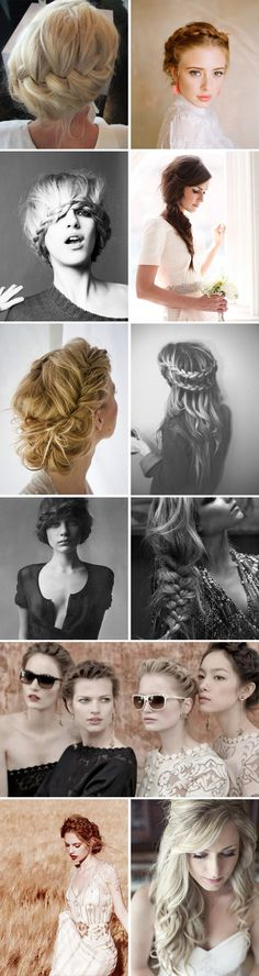 A really incredible range of hairstyles (mostly) suitable for a wedding