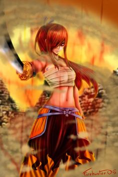 - Fairy Tail - Erza She looks sooo badass there. Fairy Tail Family, Fairy Tail Girls, Fairy Tail Love, Fairy Tail Couples, Fairy Tail Ships, Nalu, Jerza, Erza Scarlet Armor, Fairy Tail Erza Scarlet