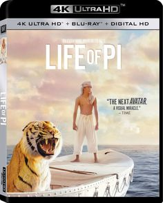 Life Of Pi (Blu-ray + DVD + Digital Copy + UltraViolet) on Blu-ray from Century Fox. Directed by Ang Lee. Staring Suraj Sharma, Irrfan Khan, Rafe Spall and Tabu. More Drama, Book-To-Film and Academy Award Winners DVDs available @ DVD Empire. Movies Showing, Movies And Tv Shows, Life Of Pi 2012, Suraj Sharma, 20th Century Fox, Ang Lee, Irrfan Khan, Blu Ray Movies, Tabu