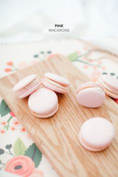 Pink Macarons from Jordan Brittley  Read more - http://www.stylemepretty.com/living/2014/02/14/pink-macarons-from-jordan-brittley/
