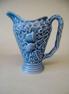 vintage wade powder blue milk jug oak leaf and acorns very stylish quality item