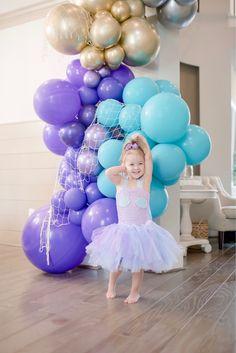 Mermaid Birthday Outfit, Mermaid Birthday Cakes, Little Mermaid Birthday, Girl Birthday Themes, Birthday Parties, Mermaid Birthday Party Ideas, Third Birthday, Birthday Ideas, Mermaid Party Decorations