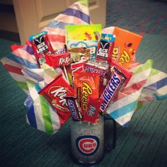 Candy bouquet for my husbands birthday
