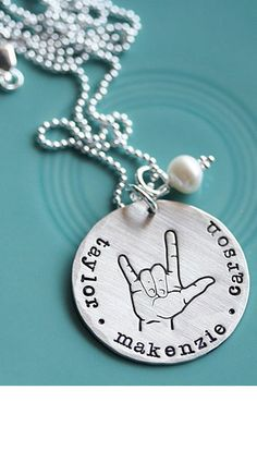 sign language charm