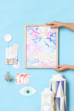 DIY // Abstract Color Cloud Art in Under an Hour
