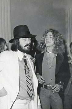 John Bonham and Robert Plant of Led Zeppelin