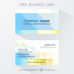 Modern Business Card Design With Abstract Elements Free Vector - https://vecree.com/9858129/modern-business-card-design-with-abstract-elements-free-vector/