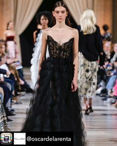 a388bc0d0938 Repost from Extraordinary evenings begin with our corded fern lace and black  tulle gown.