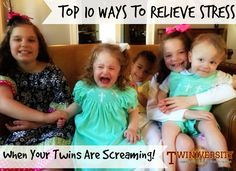 One of our dad writers, Casey Boatman, shares below his top 10 ways to relieve stress when your twins are screaming — a funny and resourceful list to help you make it through when you feel like you're going to lose it!!!