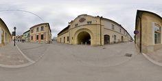 Panoráma - Floriánova brána, Historické centrum mesta, Prešov, Slovensko. Florian`s Gate, Presov, Slovakia