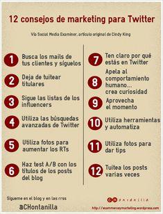 12 #consejos para hacer buen #marketing en #Twitter http://ecommerceymarketing.wordpress.com/2014/08/20/12-consejos-para-hacer-buen-marketing-en-twitter/
