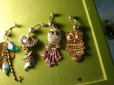 Owl belly rings @gabrielle Lillie