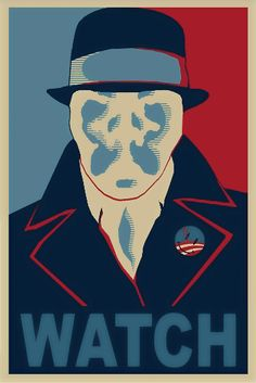 Watchmen - Rorschach: Even though he's not my favorite character in Watchmen, I think it's courageous that he dies for what he believes in. + This looks great