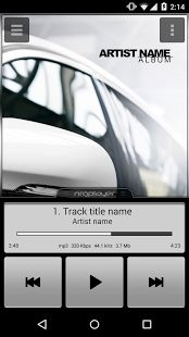 NRG Player skin: Car. Music App. Android. UI. Скин Car для NRG Player. #ui #android #player #music #player #app #skins #car #auto #androidauto