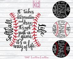 4 Softball Life svg  Softball svg  Softball by KellyLollarDesigns