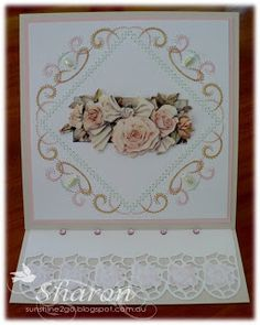 This week at Cardmaking Online I have created a easel card. I have stitched a lovely pattern from Hobbydol If you would like to re. Craft Cupboard, Easel Cards, Cardmaking, Birthday Cards, Paper Crafts, Scrapbook, Create, Stitching, How To Make