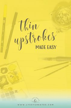 Getting that thin, skinny upstroke is something all beginner brush lettering artists struggle with. But with these 4 simple tips, it (hopefully)…