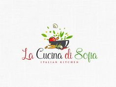 Kitchen Logo Design Restaurant Logo Vegetables Logo Food Logo Italian Kitchen Natural Food Logo