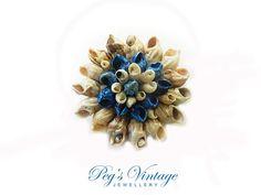 Beautiful Sea Shell Brooch/Pin Vintage by PegsVintageJewellery