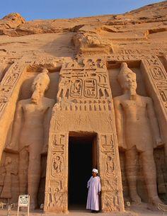 The gods and the mortal - Abu Simbel, Aswan