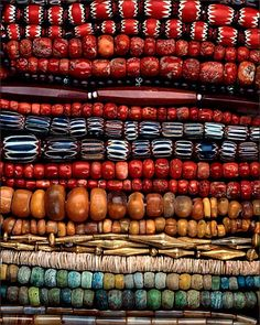 This really does look like a rainbow cascade of African Beads. So colorful!