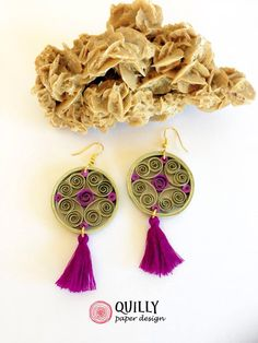 "Paper Earrings ""arabesco_11"" by quillypaperdesign"