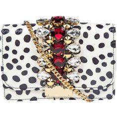 Gedebe Snake Skin & Polka Dot Print Clutch Bag