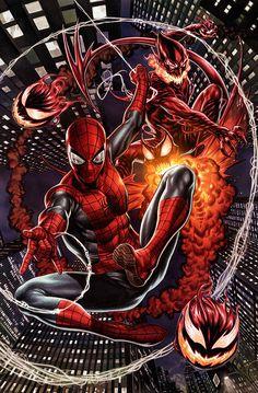 Red Goblin Vs Spider-Man by Mark Brooks - Marvel Comics. Amazing Spiderman, All Spiderman, Spiderman Kunst, Marvel Comics Art, Marvel Comic Universe, Comics Universe, Marvel Heroes, Comic Book Characters, Marvel Characters