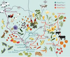 Northern NM Foodie Road Trips: farm stands, U-pick, farm-to-table restaurants, farm lodgings, and more!