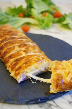 The Cook Time: Tresse feuilletée au jambon, à la béchamel et aux trois fromages #appetizer