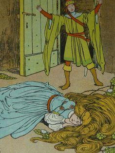 Vintage 1929 Sleeping Beauty Print  Helen by PrimrosePrints
