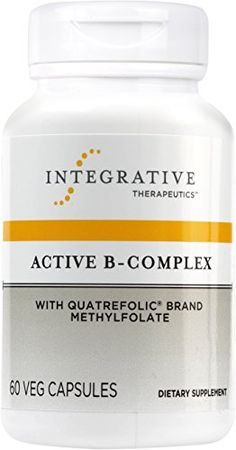 Integrative Therapeutics - Active B-Complex with Quatrefolic Brand Methylfolate - 60 Capsules >>> Click image to review more details.