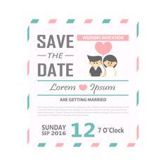 Convite de Casamento modelo vetorial ilustração,