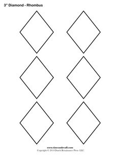 Free diamond templates and printable rhombus shapes for