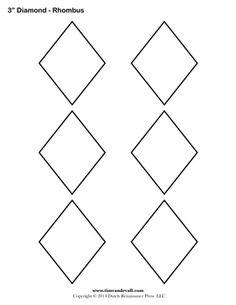 Free Rhombus Template    - #DRAW #ZENTANGLE #ZENDALA #TANGLE #DOODLE #TEMPLATE #VORLAGEN
