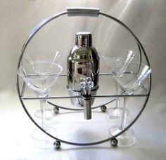 Godinger Martini Set Vintage 1980s 10Piece by SharetheLoveVintage, $55.00