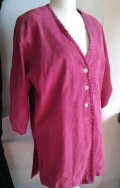 Apart Amazing pink suede jacket women coat Size:3XL Medium Apart #Apart #Peacoat #instagram#avito#tumbrl