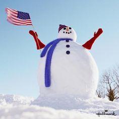Patriotic Snow Man