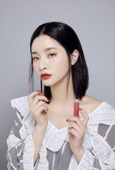 Beauty Make-up, Beauty Skin, Asian Beauty, Hair Beauty, Korea Makeup, Asian Makeup, Make Up Looks, Stylenanda Makeup, Long Wear Lipstick