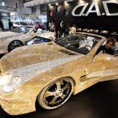 Bedazzled Mercedes with Swarovski crystals. Omg! Dream car!