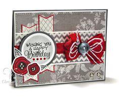 Sneak Peek card by Christyne Kane using Poppy Birthday from Verve Stamps.  #vervestamps