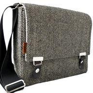 iPad messenger bag    gray herringbone  wool by MariForssell, $129.00  #Gift #Idea