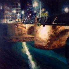 Puente de los peligros de noche