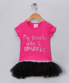 Take a look at this Hot Pink 'Favorite Color' Tutu Tee - Infant, Toddler & Girls by T-Shirt Tutus on #zulily today!