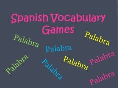 *FREE* 11 Different Spanish Vocabulary Review & Practice Games